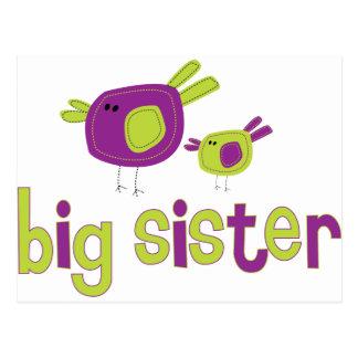 Birdies Big Sister T-shirt Postcard