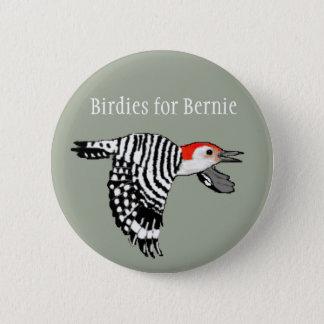 Birdies for Bernie! - Red-Bellied Woodpecker 2 Inch Round Button