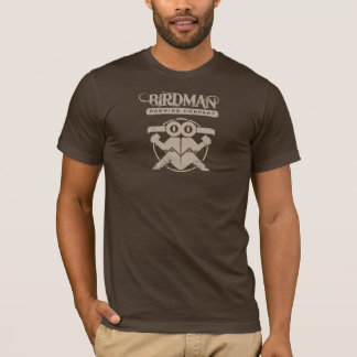 Birdman Brewing Company - Light Tan on Brown T-Shirt