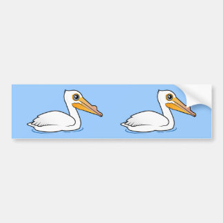 BIrdorable American White Pelican Bumper Stickers