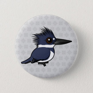 Birdorable Belted Kingfisher (male) 2 Inch Round Button