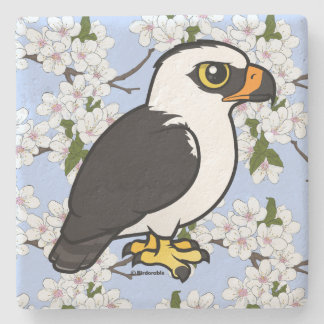 Birdorable Black-and-white Hawk-Eagle Stone Coaster