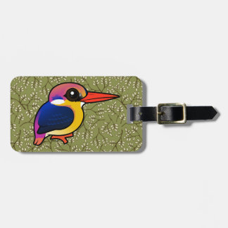 Birdorable Black-backed Dwarf-Kingfisher Luggage Tag