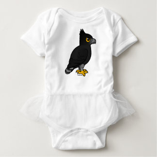 Birdorable Black Hawk-Eagle Baby Bodysuit