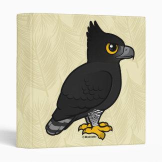 Birdorable Black Hawk-Eagle Vinyl Binders