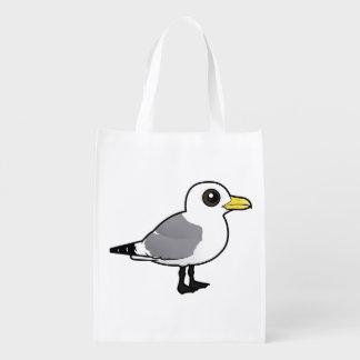 Birdorable Black-legged Kittiwake Reusable Grocery Bag