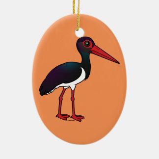 Birdorable Black Stork Ceramic Ornament