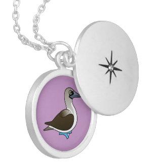 Birdorable Blue-footed Booby Locket Necklace