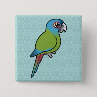 Birdorable Blue-headed Macaw 2 Inch Square Button