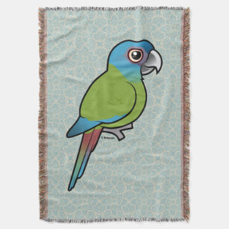 Birdorable Blue-headed Macaw Throw Blanket