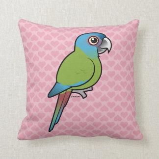 Birdorable Blue-headed Macaw Throw Pillow