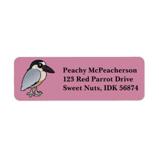 Birdorable Boat-billed Heron Return Address Label