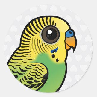 Birdorable Budgerigar Classic Round Sticker