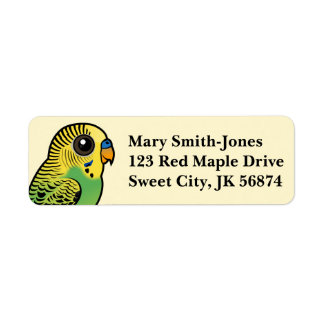 Birdorable Budgerigar Return Address Label