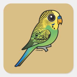 Birdorable Budgerigar Square Sticker