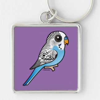 Birdorable Budgie Blue Keychain