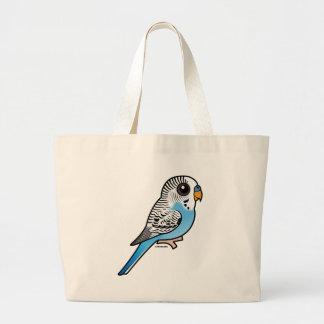 Birdorable Budgie Blue Large Tote Bag