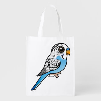 Birdorable Budgie Blue Reusable Grocery Bag