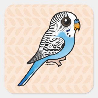 Birdorable Budgie Blue Square Sticker