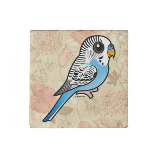 Birdorable Budgie Blue Stone Magnets