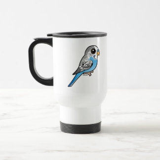 Birdorable Budgie Blue Travel Mug