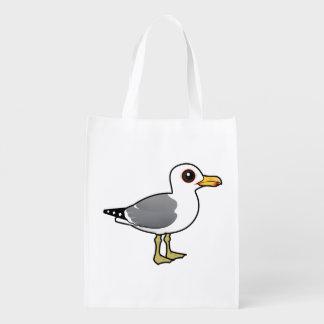 Birdorable California Gull Reusable Grocery Bag