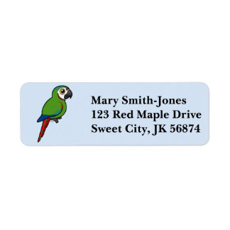 Birdorable Chestnut-fronted Macaw Return Address Label