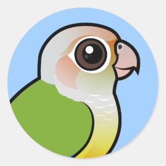 Birdorable Cinnamon Green-cheeked Conure Classic Round Sticker