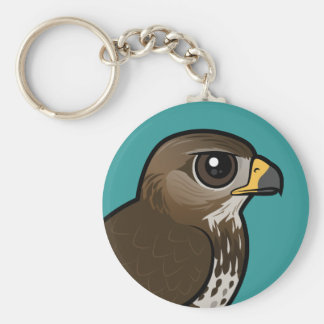 Birdorable Common Buzzard Basic Round Button Keychain