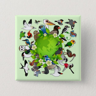 Birdorable Earth Day 2 Inch Square Button