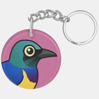 Birdorable Golden-breasted Starling Double-Sided Round Acrylic Keychain