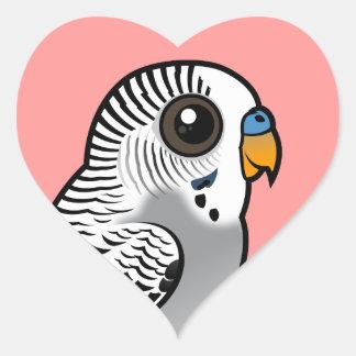 Birdorable Grey Budgie Heart Sticker