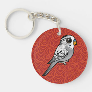 Birdorable Grey Budgie Keychain