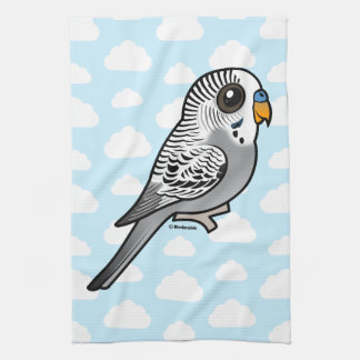 Birdorable Grey Budgie Kitchen Towel