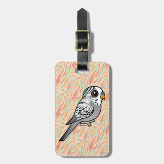 Birdorable Grey Budgie Luggage Tag