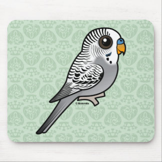Birdorable Grey Budgie Mouse Pad