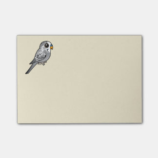 Birdorable Grey Budgie Post-it Notes