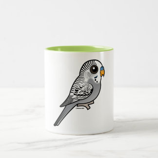 Birdorable Grey Budgie Two-Tone Coffee Mug