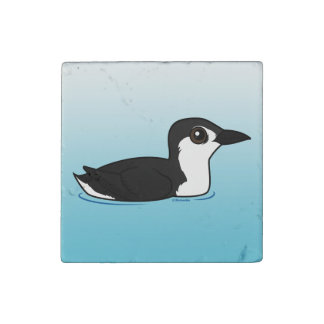 Birdorable Guadalupe Murrelet Stone Magnets