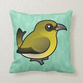 Birdorable Hawai'i 'Amakihi Throw Pillow