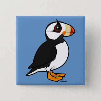 Birdorable Horned Puffin 2 Inch Square Button