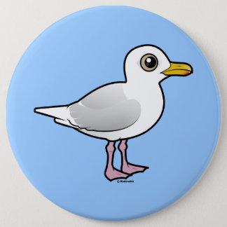 Birdorable Iceland Gull 6 Inch Round Button