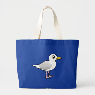 Birdorable Iceland Gull Large Tote Bag