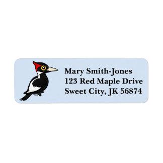 Birdorable Ivory-billed Woodpecker Return Address Label
