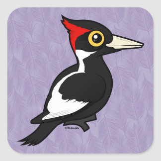 Birdorable Ivory-billed Woodpecker Square Sticker