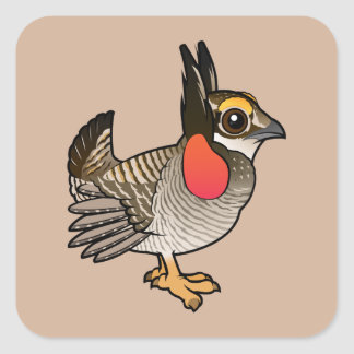 Birdorable Lesser Prairie-Chicken Square Sticker