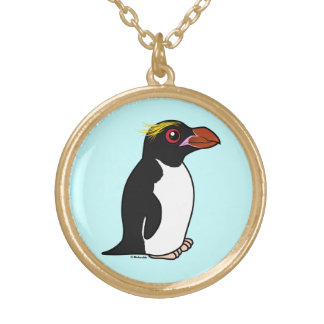 Birdorable Macaroni Penguin Gold Plated Necklace