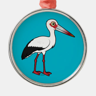 Birdorable Maguari Stork Metal Ornament
