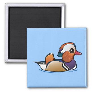 Birdorable Mandarin Duck Square Magnet