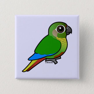 Birdorable Maroon-bellied Parakeet 2 Inch Square Button